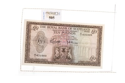 Lot 505-TWO SCOTTISH BANKNOTES