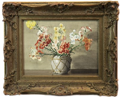 Lot 427-FLOWERS IN A GINGER JAR, A WATERCOLOUR BY KATE WYLIE
