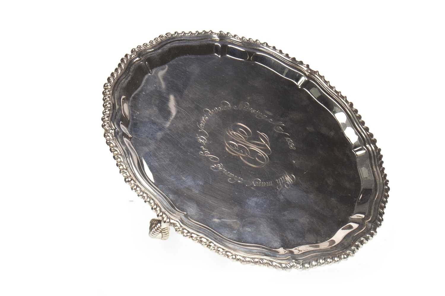 Lot 811-A LATE 20TH CENTURY SILVER SALVER