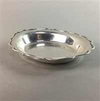 Lot 9-A SILVER OVAL DISH