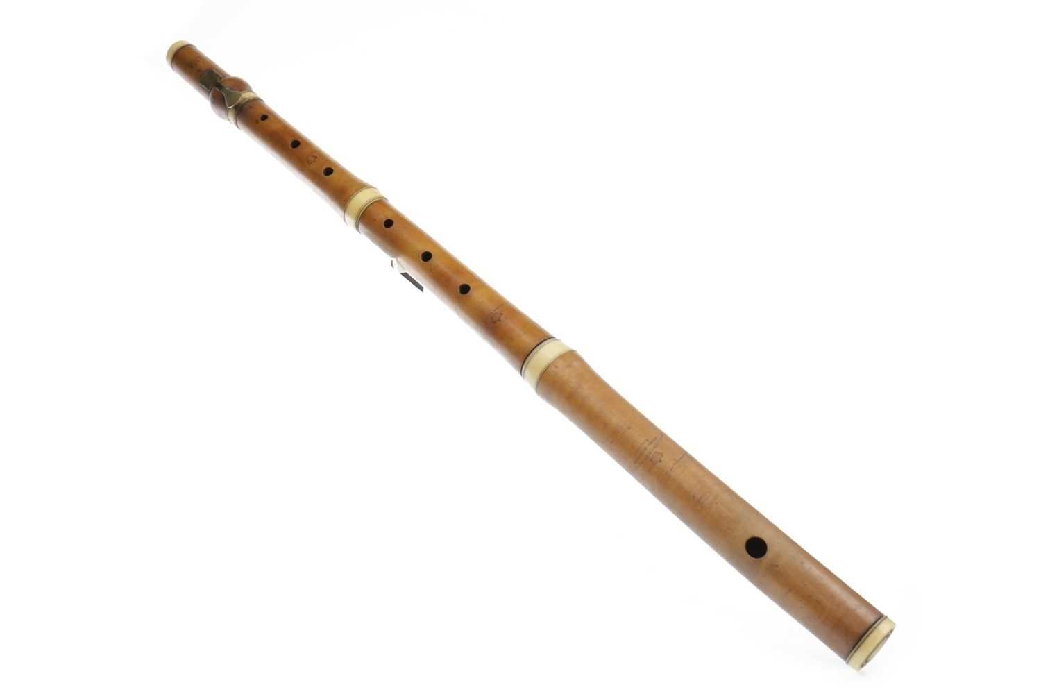 Lot 1421-AN EARLY 19TH CENTURY FLUTE BY GOULDING & D'ALMAINE
