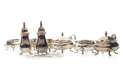 Lot 817-A LOT OF EARLY 20TH CENTURY SILVER CRUETS