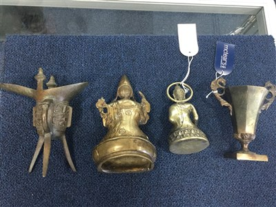 Lot 1025-A GROUP OF BRONZED FIGURES AND CUPS