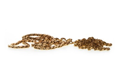 Lot 40-TWO GOLD CHAINS