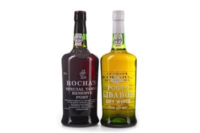 Lot 2030-ROCHA'S TAWNY & LIDADOR DRY WHITE PORT