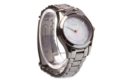 Lot 841-A LADY'S HUGO BOSS STAINLESS STEEL QUARTZ WRIST WATCH