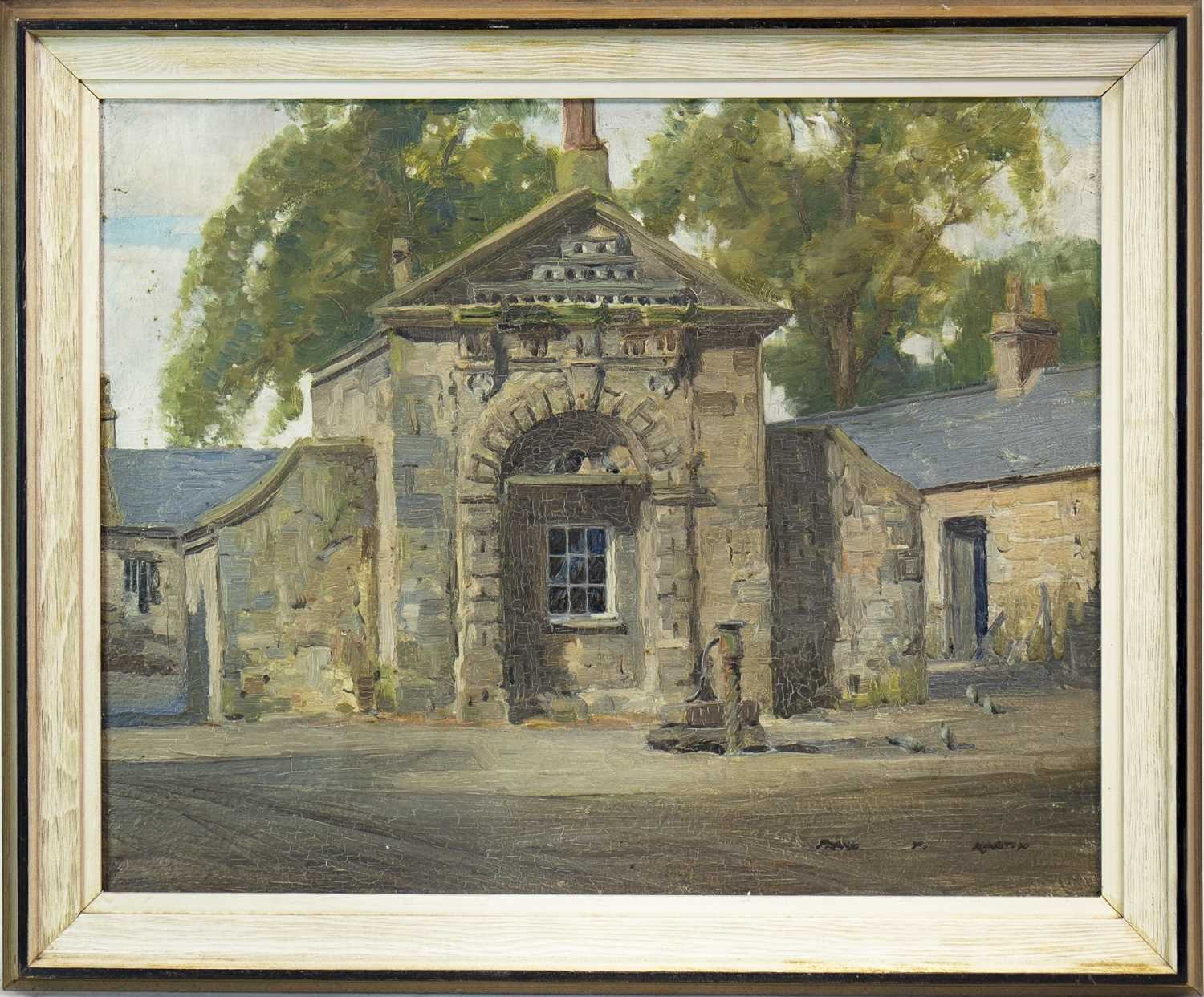 Lot 613-CROSSBURN DOVECOT, AN OIL BY FRANCIS PATRICK MARTIN