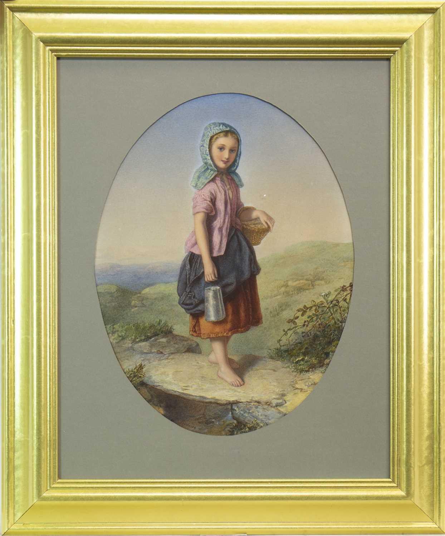 Lot 615-MILK-MAID, A WATERCOLOUR BY AGNES ROSE BOUVIER NICHOLL