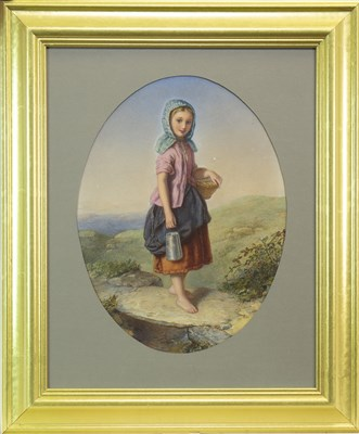 Lot 615-MILK-MAID, A WATERCOLOUR BY AGNES ROSE BOUVIER NICHOLL
