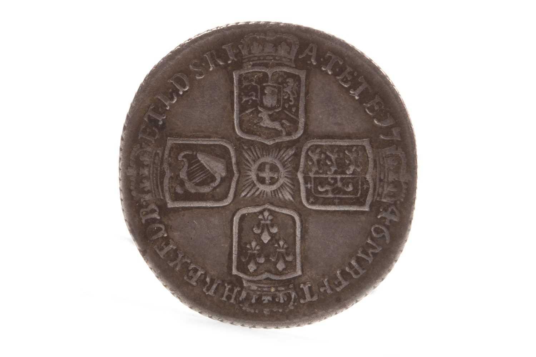 Lot 625-A GEORGE II LIMA SIXPENCE, 1746