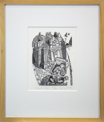 Lot 619-CLEVEDEN ROAD, A WOOD ENGRAVING BY JAMES GREER