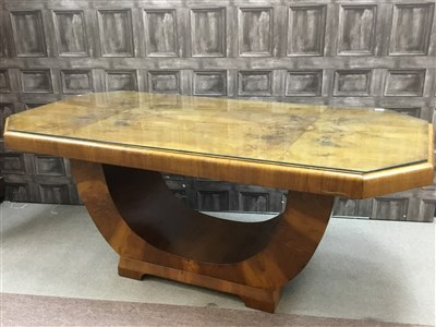Lot 805-AN ART DECO WALNUT DINING ROOM SUITE