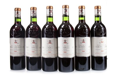 Lot 2043-ELEVEN BOTTLES OF CHATEAU PAPE CLEMENT 1982