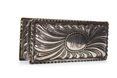 Lot 821-A VICTORIAN SILVER TRINKET BOX