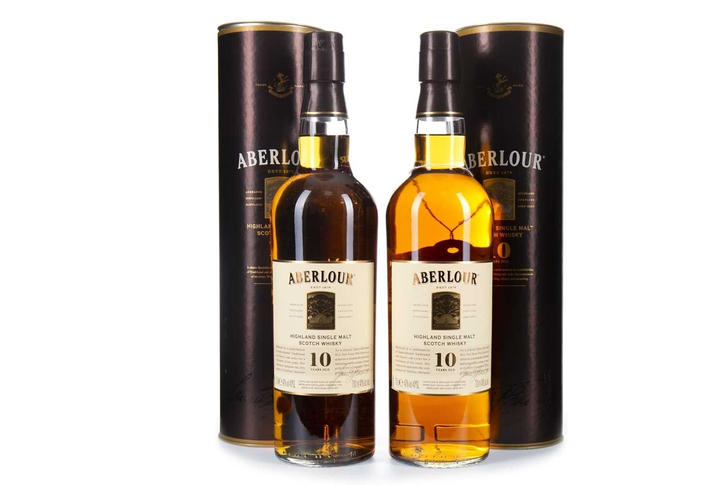 Lot 317-TWO BOTTLES OF ABERLOUR 10 YEARS OLD