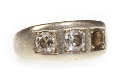 Lot 87-A GENTLEMAN'S DIAMOND SET RING