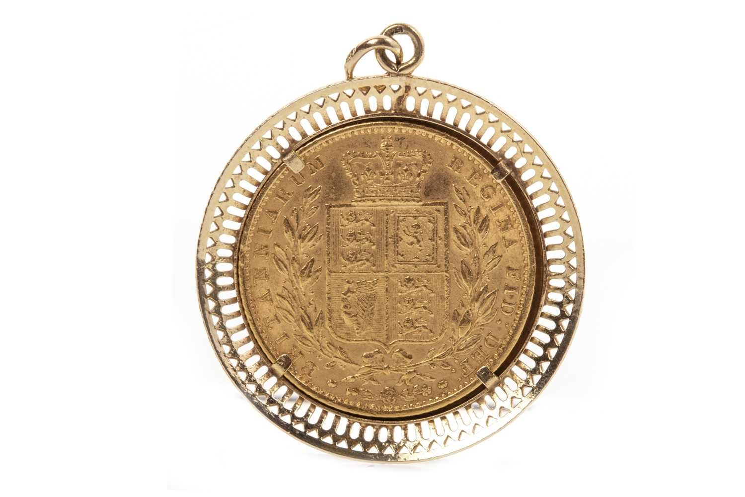 Lot 526-A GOLD SOVEREIGN, 1863
