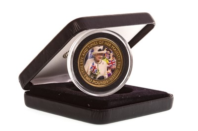 Lot 528-A THE SAPPHIRE JUBILEE OF HER MAJESTY THE QUEEN GOLD PROOF £2 COIN
