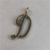 Lot 367-AN INITIAL PENDANT FORMED AS LETTER 'D'