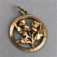 Lot 368-A THISTLE MOTIF PENDANT