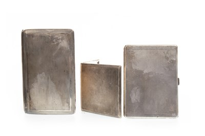 Lot 822-A LOT OF THREE SILVER CIGARETTE CASES