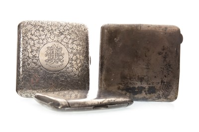 Lot 809-A LOT OF THREE SILVER CIGARETTE CASES