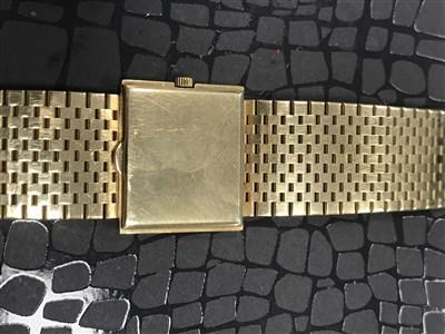 Lot 753-A GENTLEMAN'S PATEK PHILIPPE EIGHTEEN CARAT GOLD MANUAL WIND WRIST WATCH