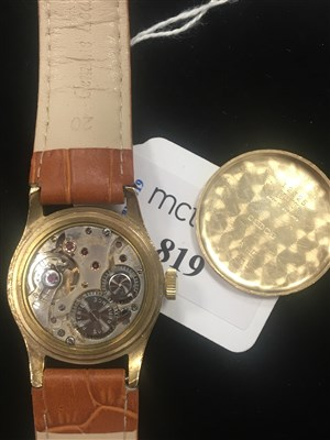 Lot 859-A MID SIZE ROLEX PRECISION GOLD WRIST WATCH