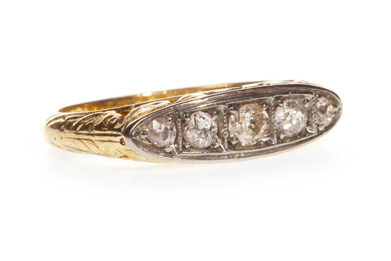 Lot 116-A DIAMOND FIVE STONE RING