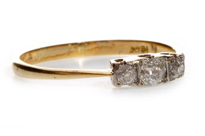 Lot 62-A DIAMOND THREE STONE RING