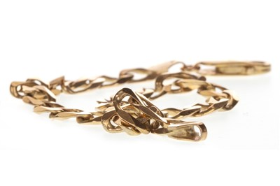 Lot 75-A GOLD CURB LINK BRACELET