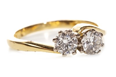 Lot 58-A DIAMOND TWO STONE RING