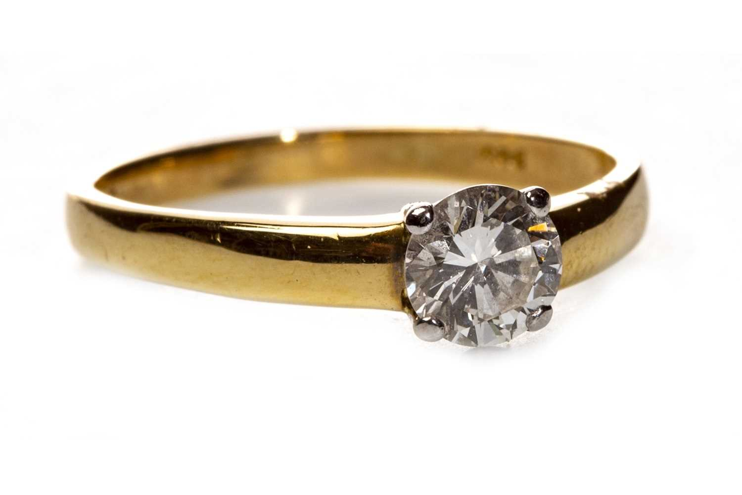 Lot 70-A DIAMOND SOLITAIRE RING