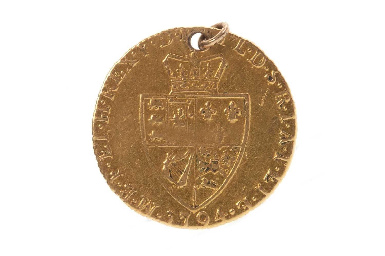 Lot 521-A GOLD SPADE GUINEA, 1794