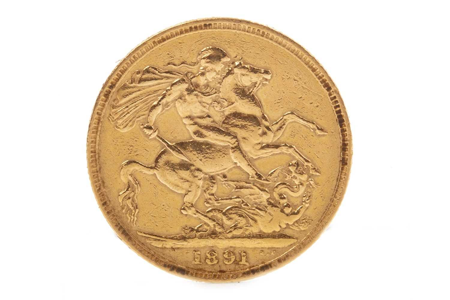 Lot 517-A GOLD SOVEREIGN, 1891