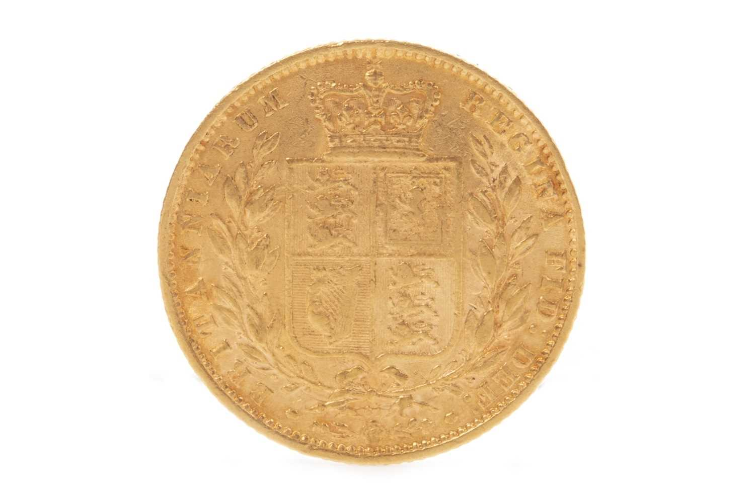 Lot 525-A GOLD SOVEREIGN, 1869