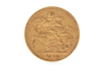 Lot 523-A GOLD SOVEREIGN, 1872