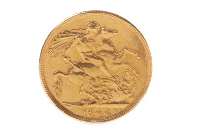 Lot 527-A GOLD SOVEREIGN, 1906
