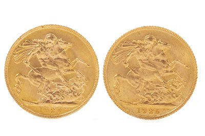 Lot 538-TWO GOLD SOVEREIGNS, 1925