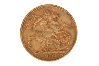 Lot 540-A GOLD SOVEREIGN,  1872