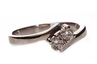 Lot 128-A DIAMOND TWO STONE RING