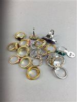 Lot 8-A LOT OF COSTUME RINGS