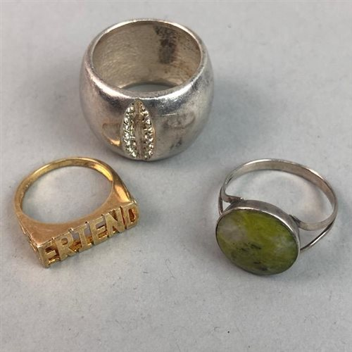 Lot 20-A LOT OF SILVER AND OTHER RINGS
