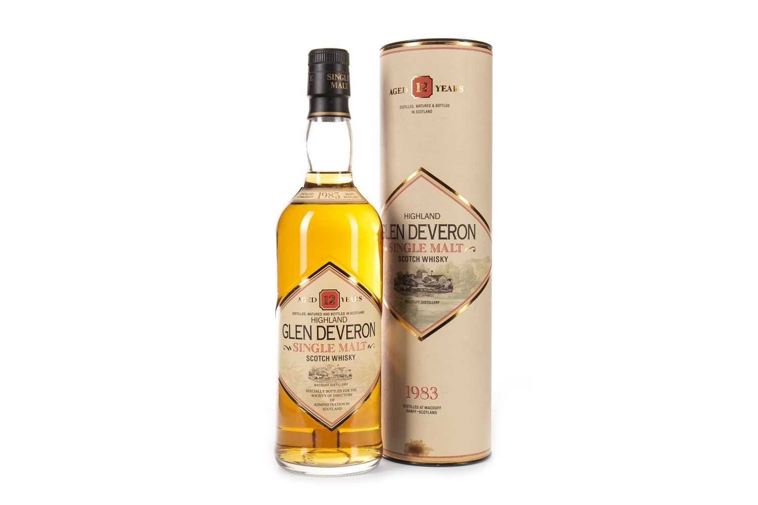 Lot 321-GLEN DEVERON 1983 AGED 12 YEARS