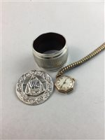 Lot 21-A SCOTTISH SILVER CIRCULAR BROOCH AND OTHER COSTUME JEWELLERY