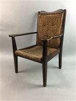 Lot 23-AN UPHOLSTERED CHILD'S CHAIR