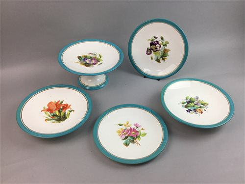 Lot 25-A LATE 19TH CENTURY DESSERT SERVICE AND OTHER CHINA