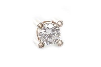 Lot 194 - A PARTIALLY MOUNTED DIAMOND