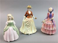 Lot 2-A LOT OF ROYAL DOULTON FIGURES AND A COALPORT FIGURE