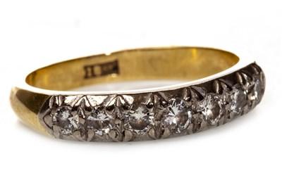 Lot 236 - A DIAMOND HALF ETERNITY RING
